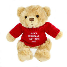 BABY'S FIRST CHRISTMAS GIFT PERSONALISED TEDDY BEAR 1st Christmas Xmas Gift Idea