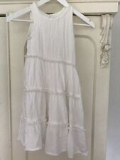 Girls Marks and Spencer Dress Ivory Cream Age 5-6 Years