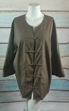 Maggie Barnes Brown  Button Front Shirt Top Blouse  Tunic 3X 26/28W