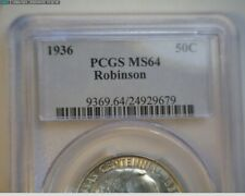 1936 Robinson Commemorative Half Dollar PCGS MS64 Nice ! * Take  LooK *