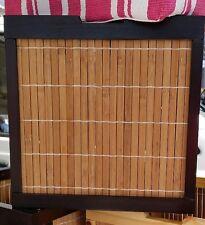 AUFBEWAHRUNG BOX Kiste Bambuskorb - natur mit wengefarben - 27x27x27cm