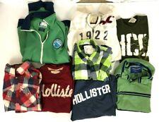 Lot of 8 HOLLISTER & AE Flannel Shirt ,T-Shirts, Sweatshirts,Hoodie - M