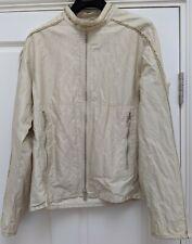 vintage PRADA SPORT mens cream crinkly METAL jacket SGA705 50 52 Large XL