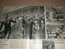 Photo article Football FA cup Liverpool beat Leeds Wembley 1965 ref BW