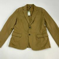 NWT Goodfellow & Co. Blazer Jacket Mens M Long Sleeve Khaki Tan Two-Button Front