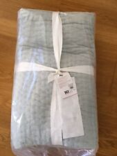 Pottery Barn Pickstitch Quilt Porcelain Blue King, New
