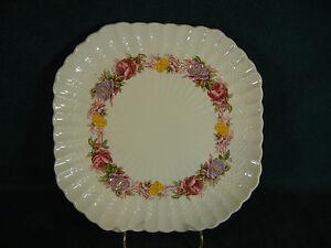 "Copeland Spode Rose Briar 8 5/8"" Square Luncheon Plate(s)"
