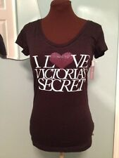 NWT Supermodel Essentials I Love Victoria's Secret Bling T Shirt M