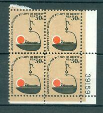US 1608 Americana 50c 1 PB of 4 stamps MNH issued 1975-81 PB #39159
