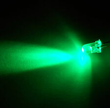 LED's  Clear Bright Green  3mm  x 20 inc. Resistors FREE POSTAGE