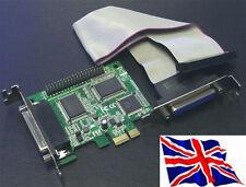 PCI Express PCIe Parallel x4  Card ECP EPP SPP LPT PCI-e 4 Port  LP Low Profile