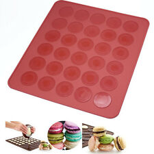30-cavity Circle Silicone Macaron Macaroon Pastry cake Oven Baking Mould Mat