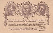 X875) WW1, GUGLIELMO, CAINO E GIUDA, INVETTIVE DI ARRIGO BOITO.