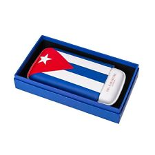 Leather Cigar Case for 3 Cigars 56 to 64 Gauge Cuban Flag