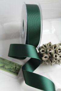 1,10€/m 2m schweizer Satinband Forrest grün SATIN LUXE doubleface 25mm waschb 69