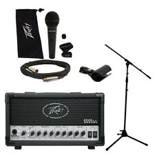 Peavey 6505 MH Mini Head Electric Guitar 20W Tube Amp Amplifier w/ Mic & Stand