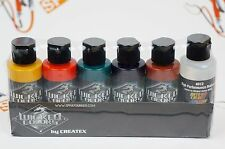 Createx Wicked Colors Detail 2oz Secondary Set W104 5 Assorted Colors + reducer