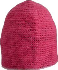 Wool Winter Cap Beanie Hat Unisex Ski Warm Handmade Fleece Knit Thermal Pink 1