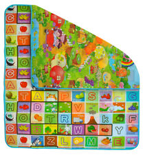 Kindermatte Spielteppich Isoliert 180x200x0,5cm Krabbeldecke Bunt  6402