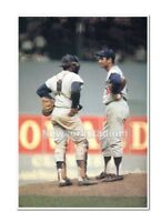 Brooklyn Dodgers- Sandy Koufax & Johnny Roseboro -Polo Grounds 1962 -Color