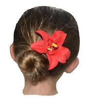 NEW Beautiful Tropical Hibiscus Flower Hair Clip, 20 Colours, UK Seller