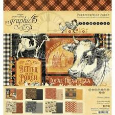 "Graphic 45 8""x8"" Double-Sided Paper Pad 24pcs - Farmhouse"