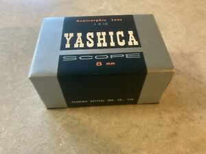 Rare vintage Yashica Scope Anamorphic Lens - 8mm - 1 X 1.5 - Japan