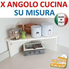 5 PZ Di MENSOLA ANGOLO SQUADRATA BIANCA CM. 50X50X1,8 | eBay
