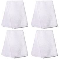 4X Home Collection White Bar Mop Cotton Towels, 19x16 in. BRAND NEW