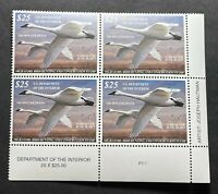 WTDstamps - #RW83 2016 Plate# Block - US Federal Duck Stamp - Mint OG NH