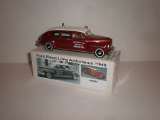 1/43 1948 Ford Sibert Long Ambulance Handmade