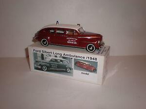 1/43 1948 Ford Sibert Long Ambulance Handmade