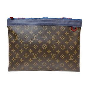 Louis Vuitton LV Clutch Bag Pochette Apollo M63048 Blue Monogram 1728645