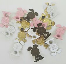 Scrapbooking Eyelets Easter Bunny Rabbit Embellishment 3 Colors 18 pieces Crafts