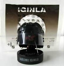 JAROME IGINLA - RARE Collectible Hockey Helmet -NHL Plastic Figure on Puck