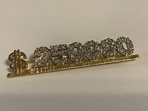 14K Solid Yellow Gold with 36 Small Diamonds Award Pin Brooch $250000 5.2 Grams