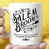Salem Broom Company Coffee Mug or Cup, Halloween Coffee Mug or Coffee Cup Gift