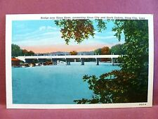 Postcard IA Sioux City Bridge Over Sioux River Connecting Sioux City and SD