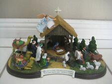 The Danbury Mint Christmas Religious The Nativity Set Brand new