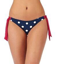 Bikini Bottoms Side Tie Hipster Blue White Polka Dot Red Wolf & York Roda Bay