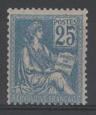 "FRANCE STAMP TIMBRE N° 118 "" MOUCHON 25c BLEU TYPE II 1900 "" NEUF xx TTB  N820"