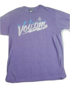 Volcom Mens T Shirt Size Medium Purple Skate Skater