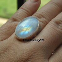 Moonstone Ring 925 Sterling Silver Band Ring Handmade Ring Statement Jewelry E03