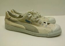Vintage PUMA Mens  COURT II  White Canvas  Sneakers Size 10.5 M 80'S rare model