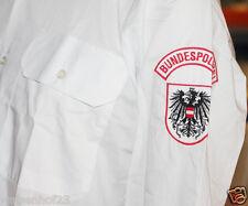 Original policía federal de austria castillo Vienna uniforme camisa manga corta Camisa blanco 42