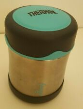 Thermos FOOGO Vacuum Insulated Stainless Steel 10-Ounce Food Jar Charcoal/Teal