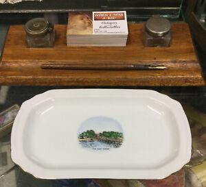 "Vintage Noritake Plate ""The Pier"" Cowes Phillip Island Victoria Souvenir Ware"
