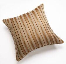 "Bond Street Essex Euro Pillow Sham Size: 26 x 26"" New Gold/Brown Striped"