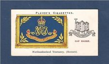 NORTHUMBERLAND YEOMANRY Hussars The Noodles Cap Badge  Banner original 1924 card