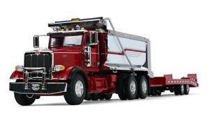 """FIRST GEAR 50-3404 PETERBILT 367 Dump Truck w/ Beaver Tail Trailer 1:50 """"NEW"""""""